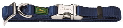 HUNTER HALSBAND VARIO BASIC ALU-STRONG MARINE BLAUW 40-55 CM