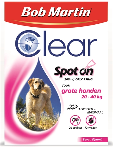 BOB MARTIN CLEAR SPOT ON HOND LARGE 3 PIPET