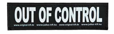 JULIUS K9 LABELS VOOR POWER-HARNAS / TUIG OUT OF CONTROL SMALL