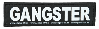 JULIUS K9 LABELS VOOR POWER-HARNAS / TUIG GANGSTER LARGE