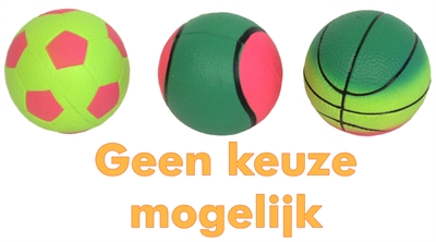 HAPPY PET SPORTS BALLS NEON 6 CM 3ST