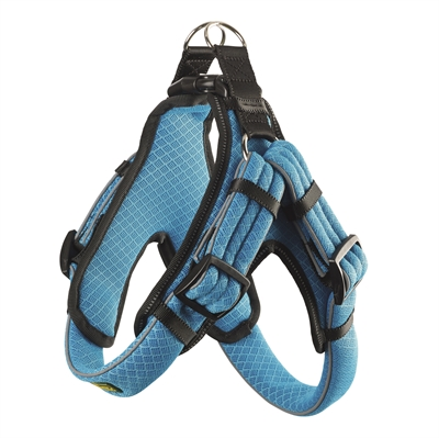 HUNTER HONDENTUIG MANOA VARIO QUICK LIGHT MESH BLAUW / ZWART 65-75 CMX33 MM