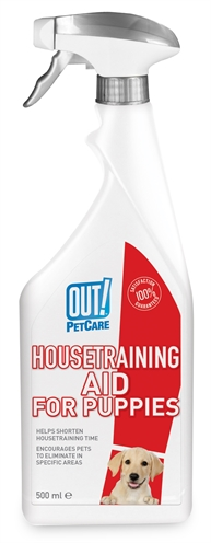 OUT! HOUSETRAINING AID FOR PUPPIES 500 ML