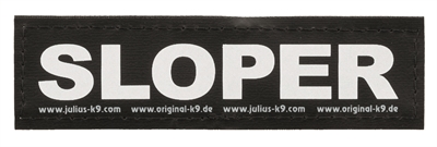 JULIUS K9 LABELS VOOR POWER-HARNAS/TUIG SLOPER LARGE