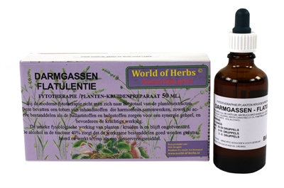 WORLD OF HERBS FYTOTHERAPIE DARMGASSEN FLATULENTIE 50 ML