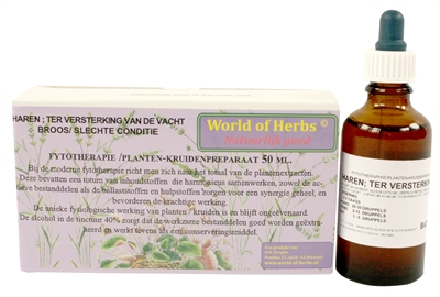 WORLD OF HERBS FYTOTHERAPIE HAREN VACHTVERSTERKING 50 ML