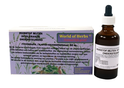 WORLD OF HERBS FYTOTHERAPIE HUISSTOF MIJTEN INTOLERANTIE 50 ML