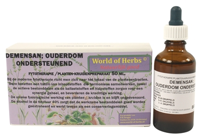 WORLD OF HERBS FYTOTHERAPIE DEMENSAN OUDERDOM 50 ML