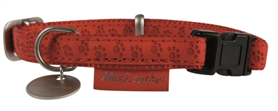MACLEATHER HALSBAND ROOD 15 MMX20-40 CM