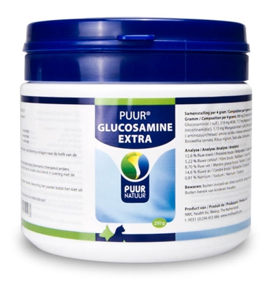 PUUR NATUUR GLUCOSAMINE EXTRA (COMPLEET) 250 GR