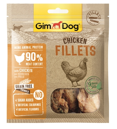 GIMDOG CHICKEN FILLETS WITH GREEN TEA 60 GR