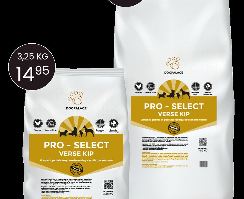 Nieuw: Dogpalace Pro Select. Gezonde voeding voor iedere hond