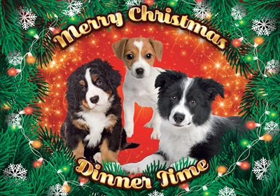 PLENTY GIFTS PLACEMAT XMAS PUPPIES MIX 42X30 CM