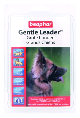 BEAPHAR GENTLE LEADER BLACK LARGE