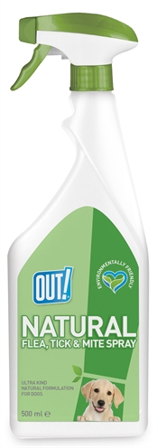OUT! NATURAL FLEA TICK AND MITE SPRAY 500 ML