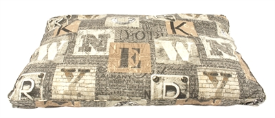 WOEFWOEF HONDENKUSSEN LOUNGE LUXE NEW YORK TAUPE 115X75X10 CM