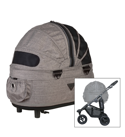 AIRBUGGY HONDENBUGGY DOME2 SM MET REM EARTH BRUIN 53X31X52 CM / 96X53