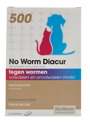 NO WORM DIACUR 500 MG 10 TBL