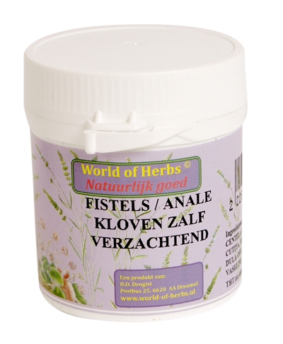 WORLD OF HERBS FYTOTHERAPIE FISTELS / ANALE KLOVEN ZALF 50 GR