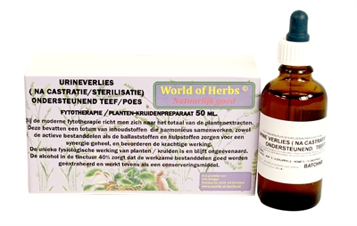WORLD OF HERBS FYTOTHERAPIE URINEVERLIES TEEF / POES 50 ML