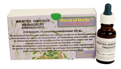 WORLD OF HERBS FYTOTHERAPIE WRATTEN UITWENDIG/INWENDIG BEHANDELEN 2X20 ML