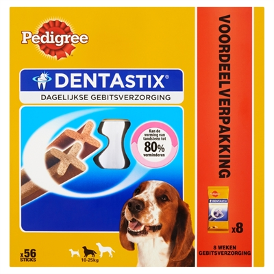 PEDIGREE DENTASTIX MEDIUM ACTIEPACK 56 ST 1440 GR